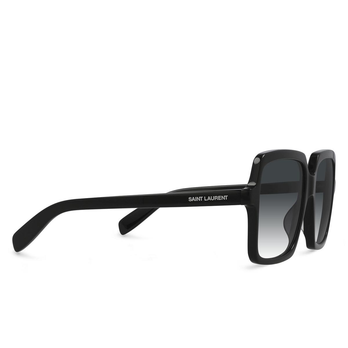 Saint Laurent® Square Sunglasses: SL 174 color Black 001 - three-quarters view.