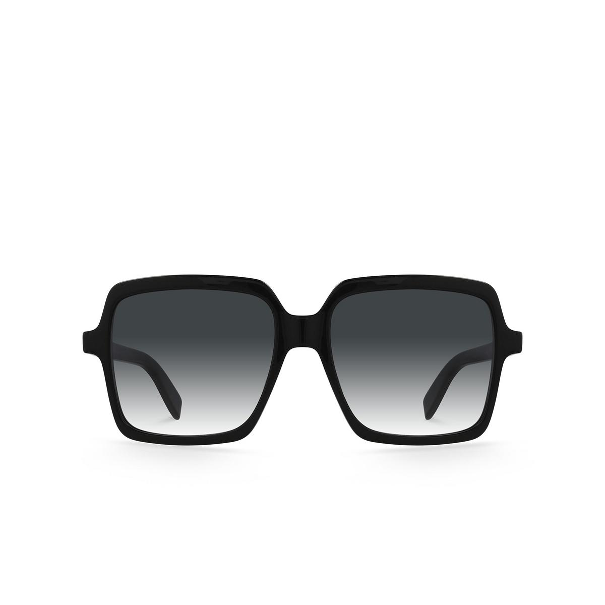 Saint Laurent® Square Sunglasses: SL 174 color Black 001 - front view.