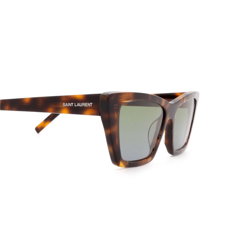 Saint Laurent® Cat-eye Sunglasses: Mica SL 276 color Havana 020.