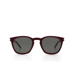 Saint Laurent® Sunglasses: SL 28 SLIM color Burgundy 004.
