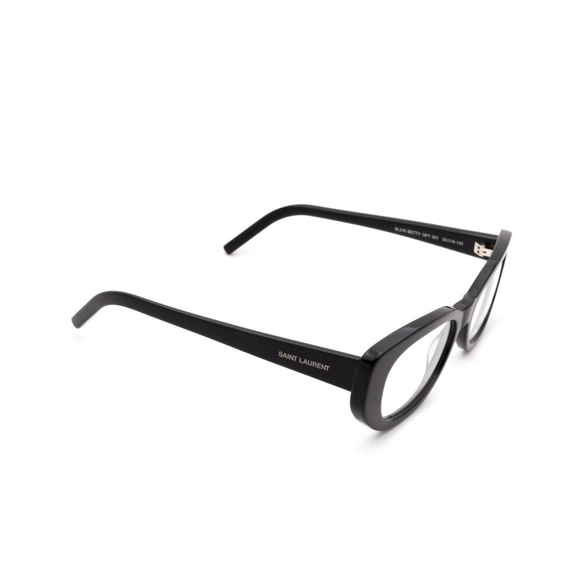 Saint Laurent® Cat-eye Eyeglasses: SL 316 BETTY OPT color Black 001.