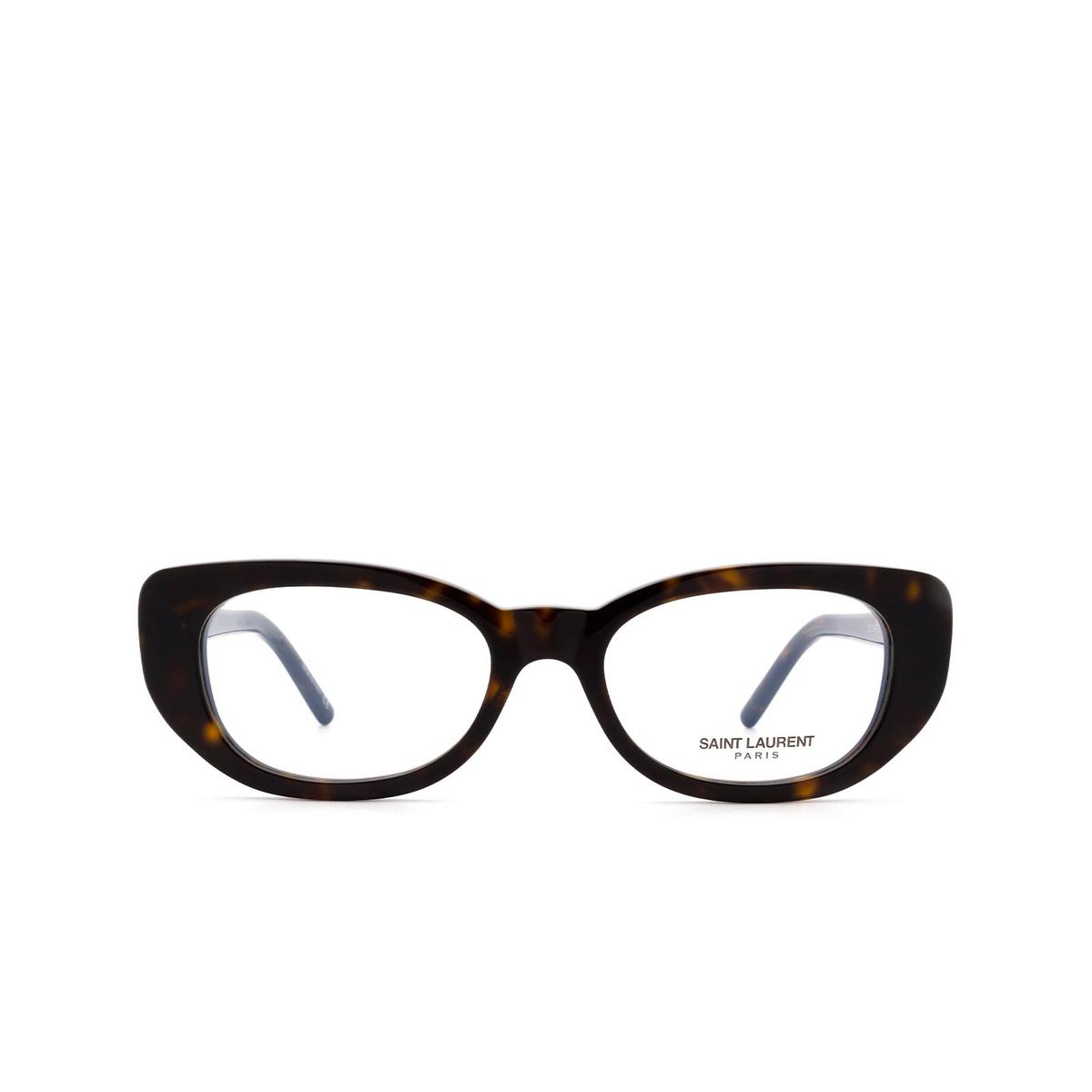 Saint Laurent® Cat-eye Eyeglasses: SL 316 BETTY OPT color Havana 002.