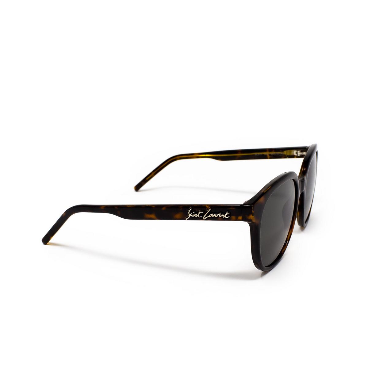 Saint Laurent® Round Sunglasses: SL 317 color Havana 002 - 2/3.