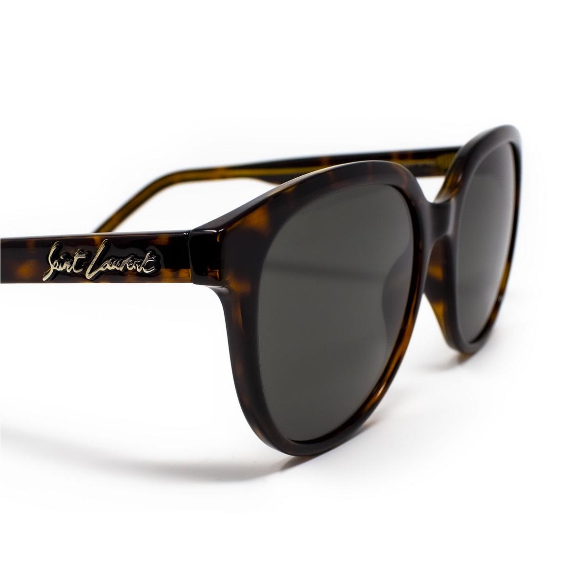 Saint Laurent® Round Sunglasses: SL 317 color Havana 002 - 3/3.
