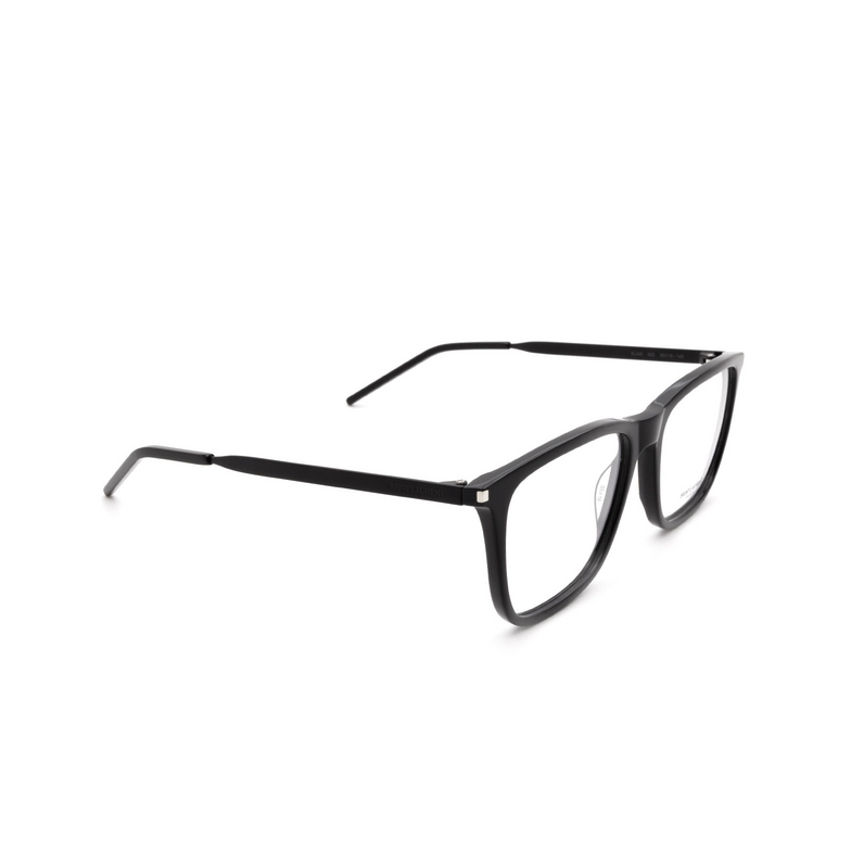 Saint Laurent® Square Eyeglasses: SL 345 color Black 002.