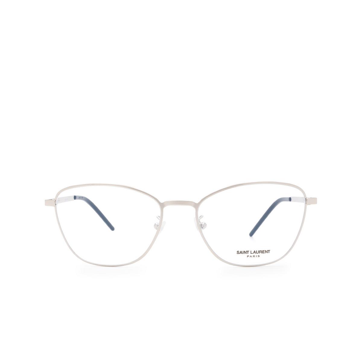 Saint Laurent® Cat-eye Eyeglasses: SL 351 SLIM color Silver 001.