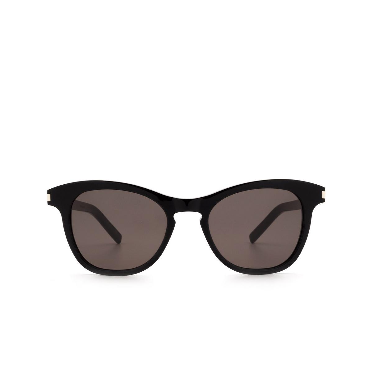 Saint Laurent® Butterfly Sunglasses: SL 356 color Black 001 - front view.