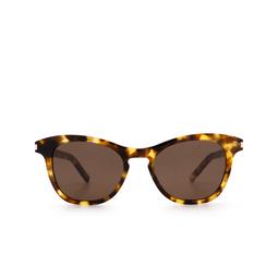 Saint Laurent® Cat-eye Sunglasses: SL 356 color Havana 004.