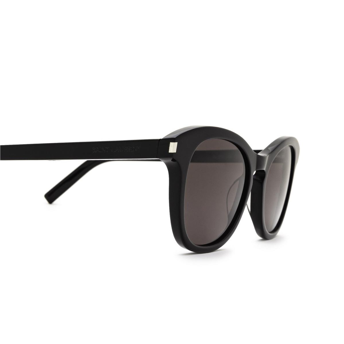 Saint Laurent® Cat-eye Sunglasses: SL 356 color Black 009 - 3/3.