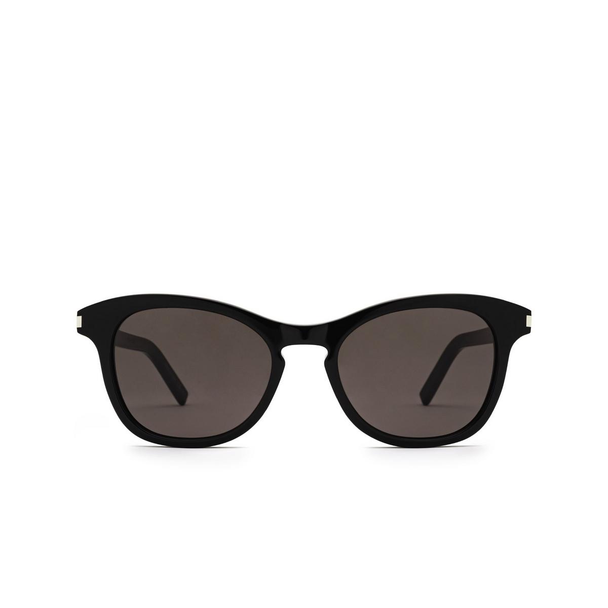 Saint Laurent® Cat-eye Sunglasses: SL 356 color Black 009 - front view.