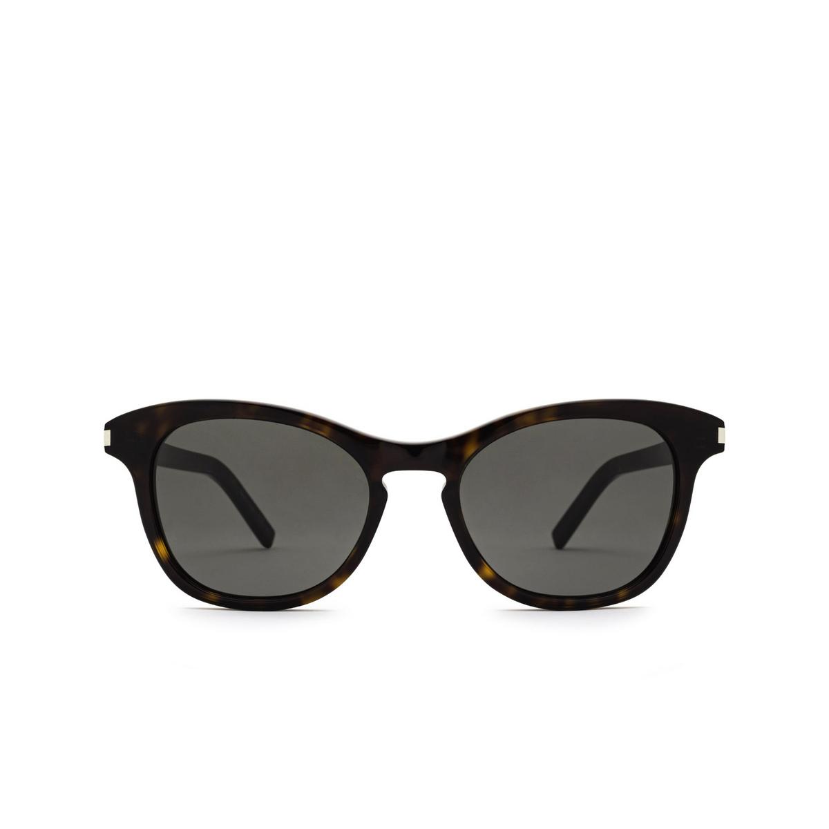 Saint Laurent® Cat-eye Sunglasses: SL 356 color Dark Havana 010 - front view.
