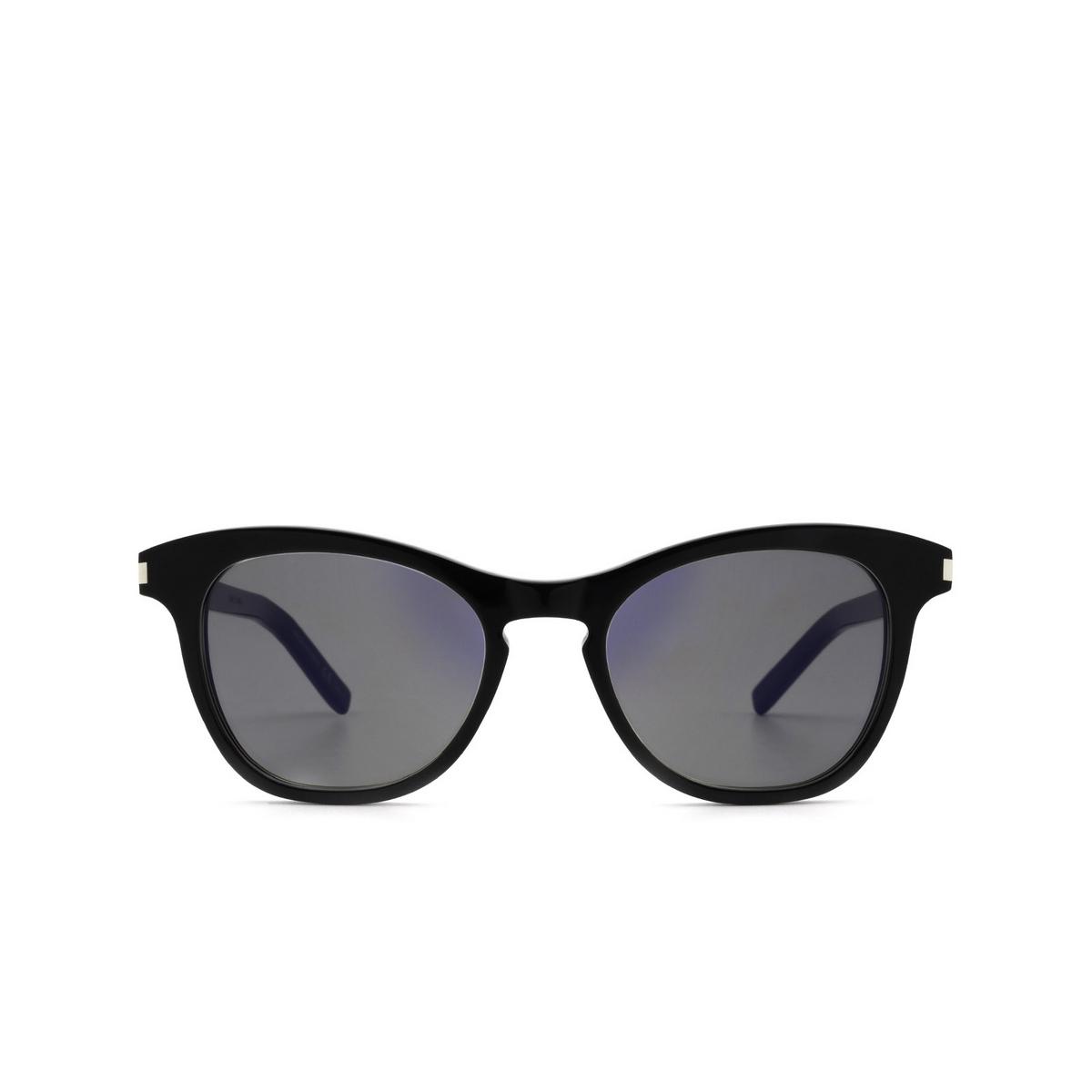 Saint Laurent® Cat-eye Sunglasses: SL 356 color Black 017 - front view.