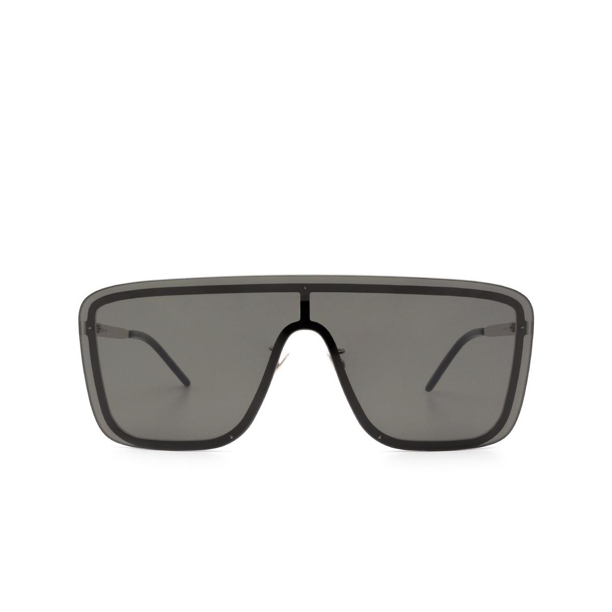 Saint Laurent® Mask Sunglasses: SL 364 MASK color Silver 001 - front view.