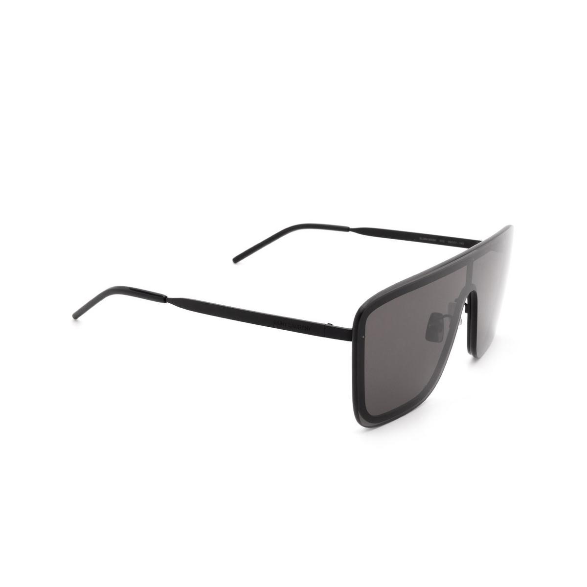 Saint Laurent® Mask Sunglasses: SL 364 MASK color Black 002 - three-quarters view.