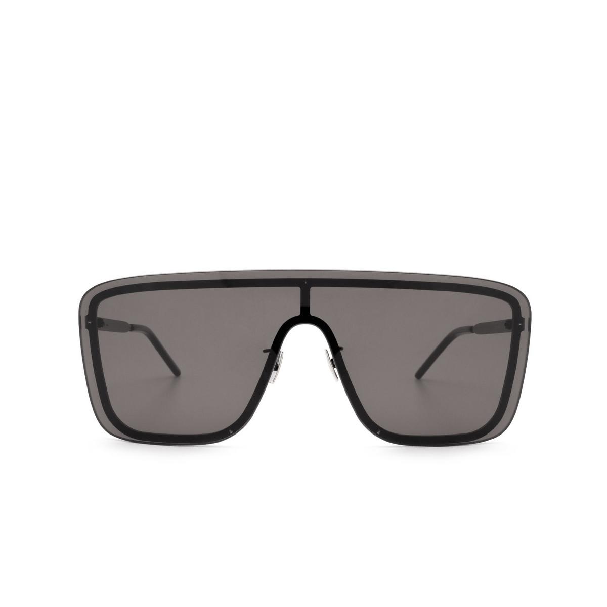 Saint Laurent® Mask Sunglasses: SL 364 MASK color Black 002 - front view.