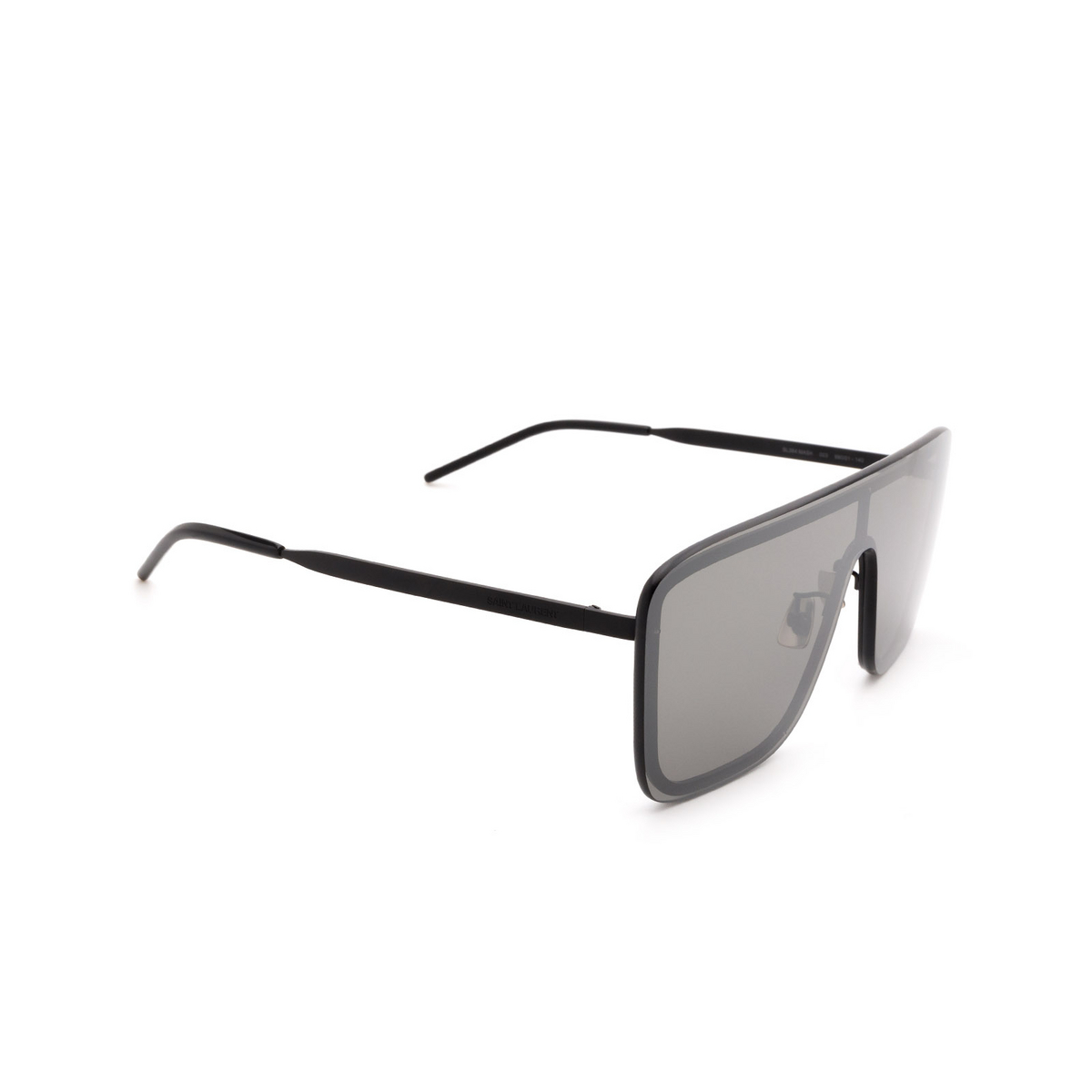 Saint Laurent® Mask Sunglasses: SL 364 MASK color Black 003 - three-quarters view.