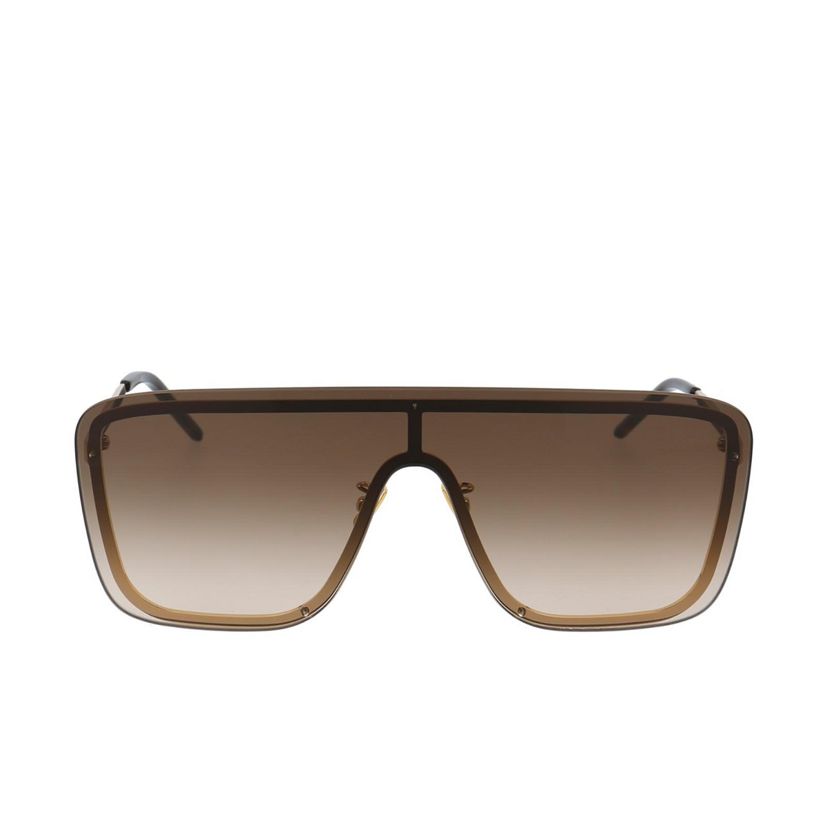 Saint Laurent® Mask Sunglasses: SL 364 MASK color Gold 006 - front view.
