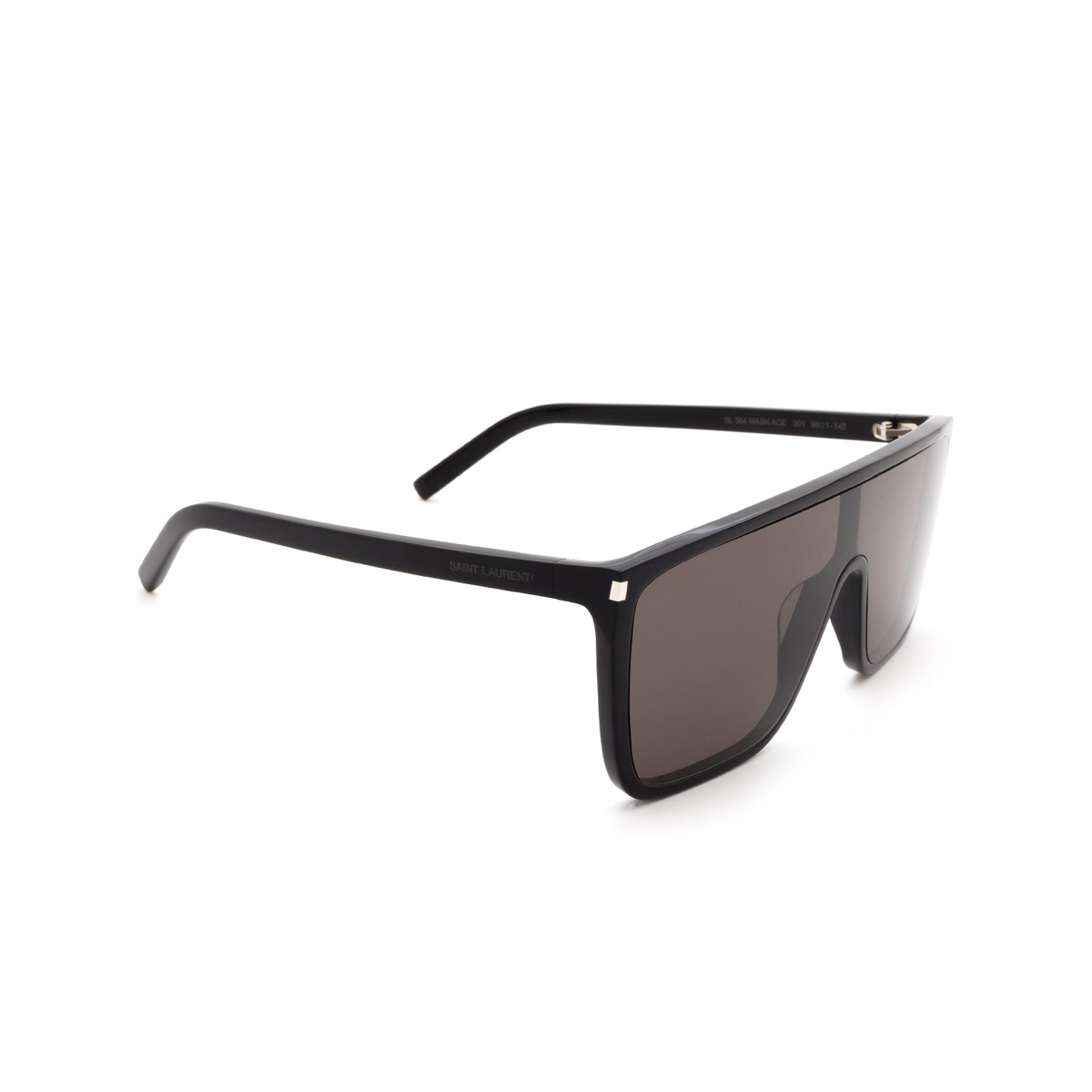 Saint Laurent® Mask Sunglasses: SL 364 MASK ACE color Black 001 - three-quarters view.