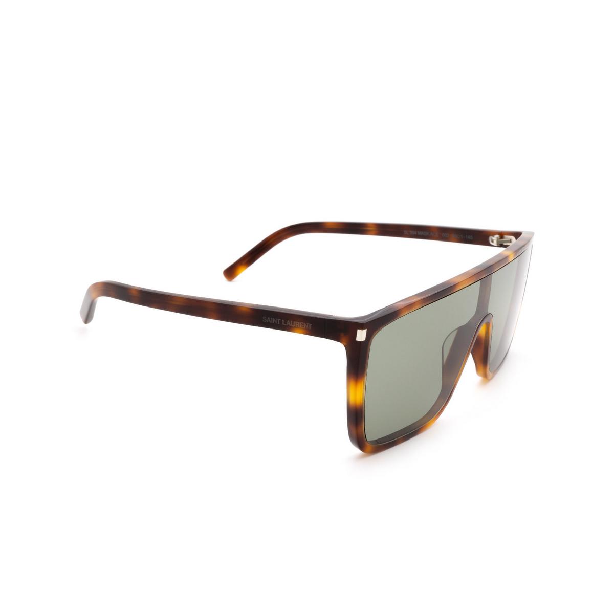 Saint Laurent® Mask Sunglasses: SL 364 MASK ACE color Havana 002 - three-quarters view.