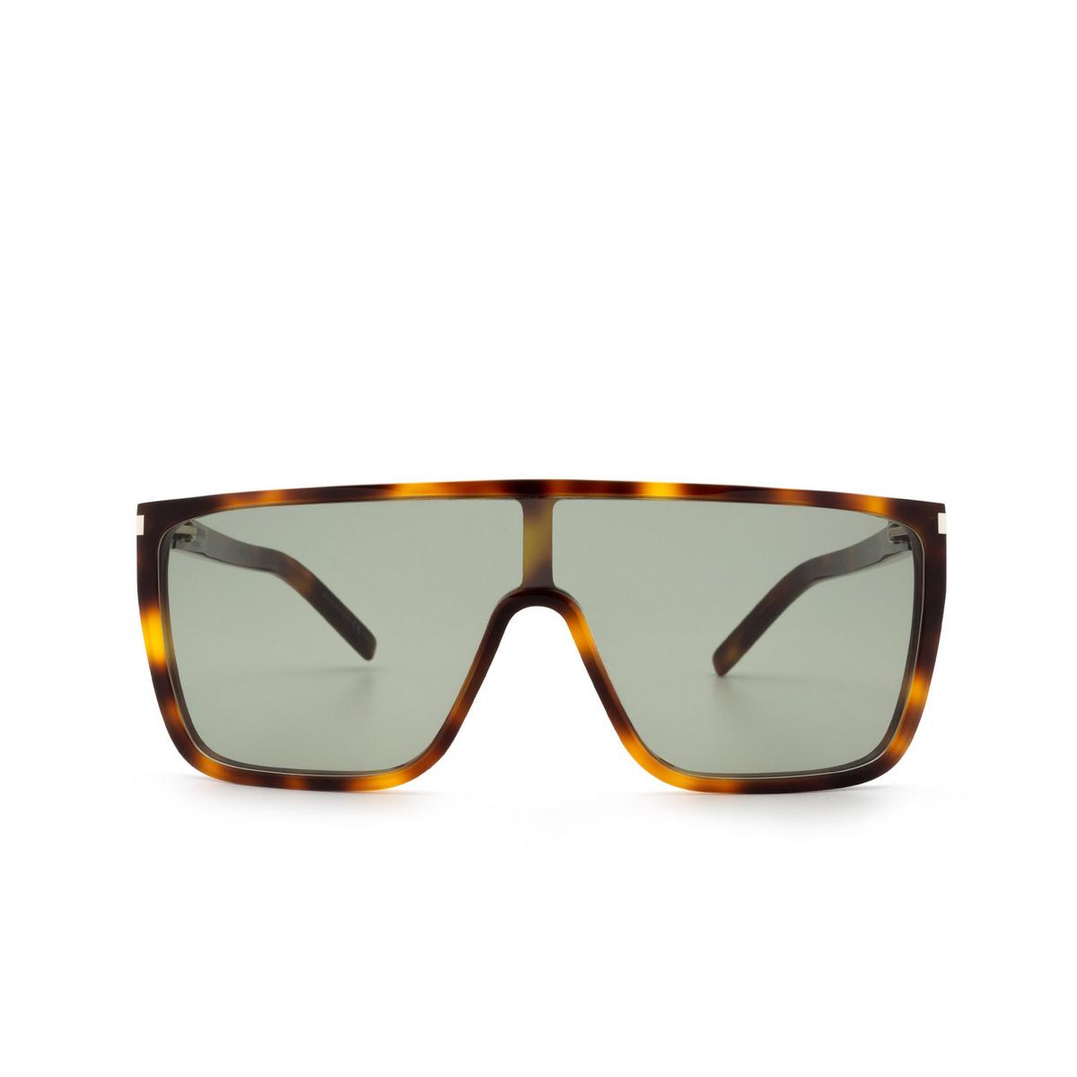Saint Laurent® Mask Sunglasses: SL 364 MASK ACE color Havana 002 - front view.