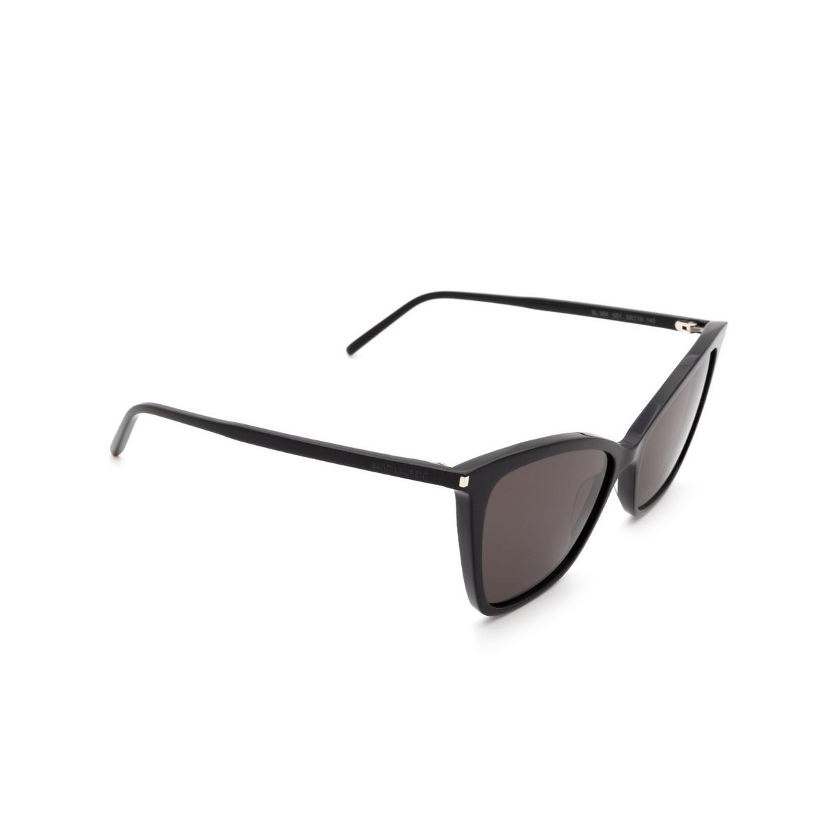 Saint Laurent® Cat-eye Sunglasses: SL 384 color Black 001 - 2/3.