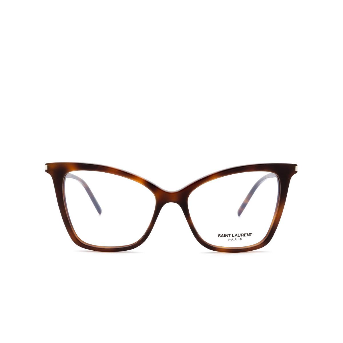 Saint Laurent® Cat-eye Eyeglasses: SL 386 color Havana 006.