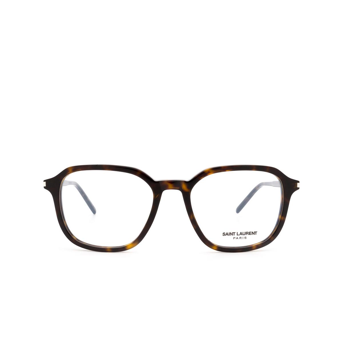 Saint Laurent® Square Eyeglasses: SL 387 color Havana 002.
