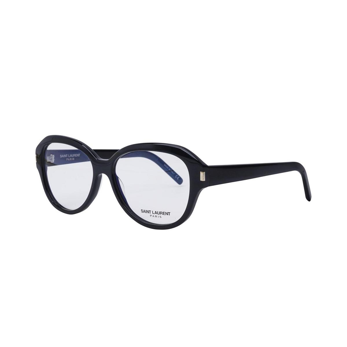Saint Laurent® Butterfly Eyeglasses: SL 411 color Black 001 - three-quarters view.