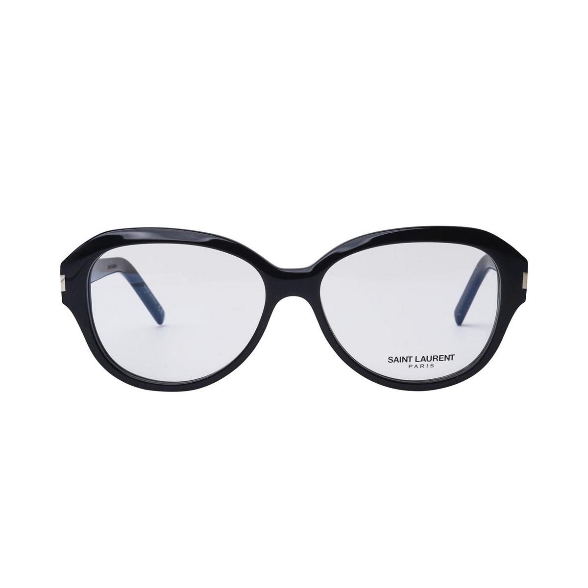 Saint Laurent® Butterfly Eyeglasses: SL 411 color Black 001 - front view.