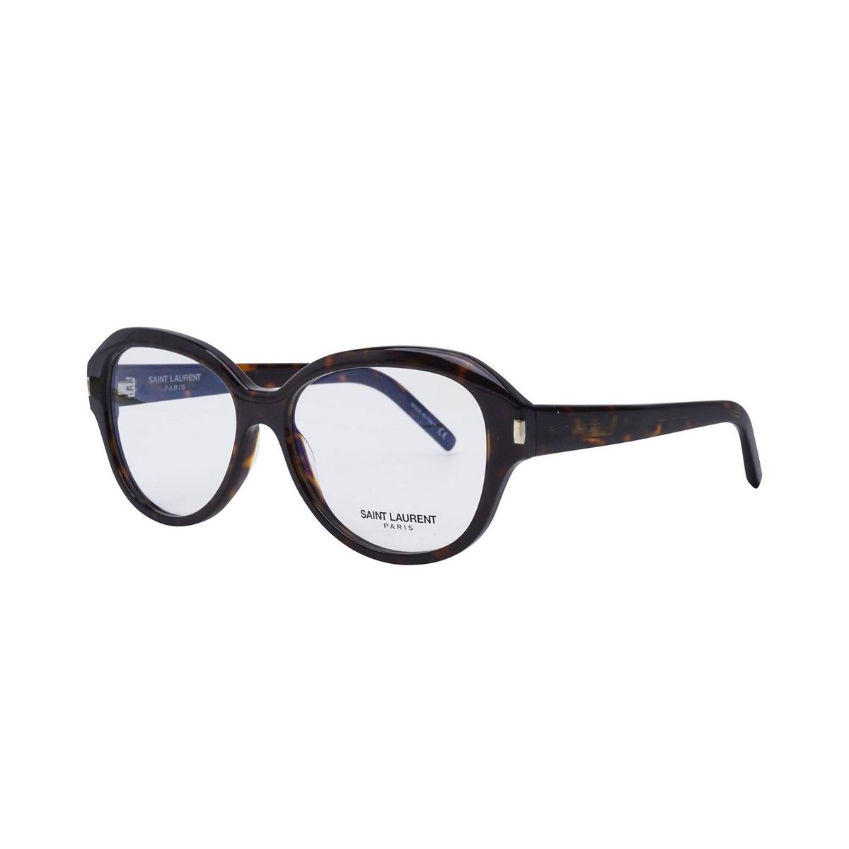 Saint Laurent® Butterfly Eyeglasses: SL 411 color Dark Havana 002 - three-quarters view.
