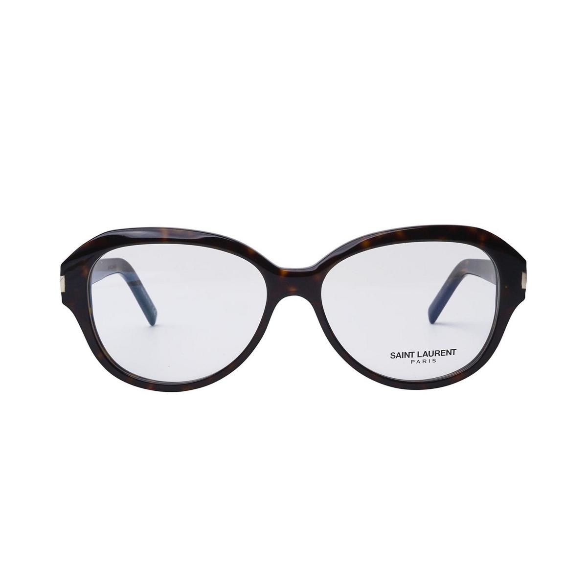 Saint Laurent® Butterfly Eyeglasses: SL 411 color Dark Havana 002 - front view.