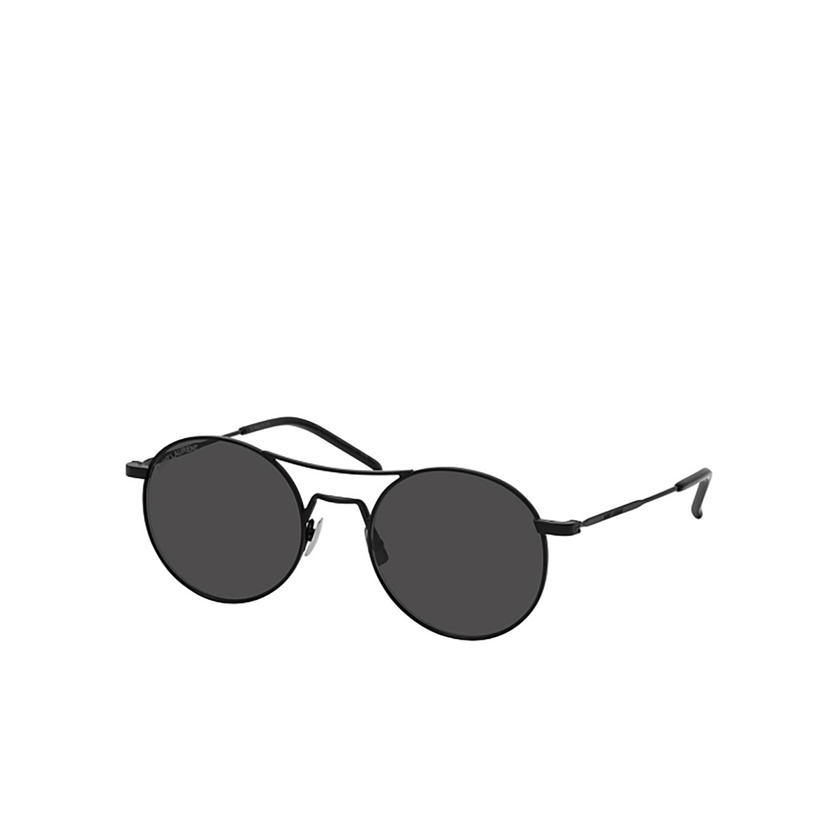 Saint Laurent® Round Sunglasses: SL 421 color Black 001 - three-quarters view.