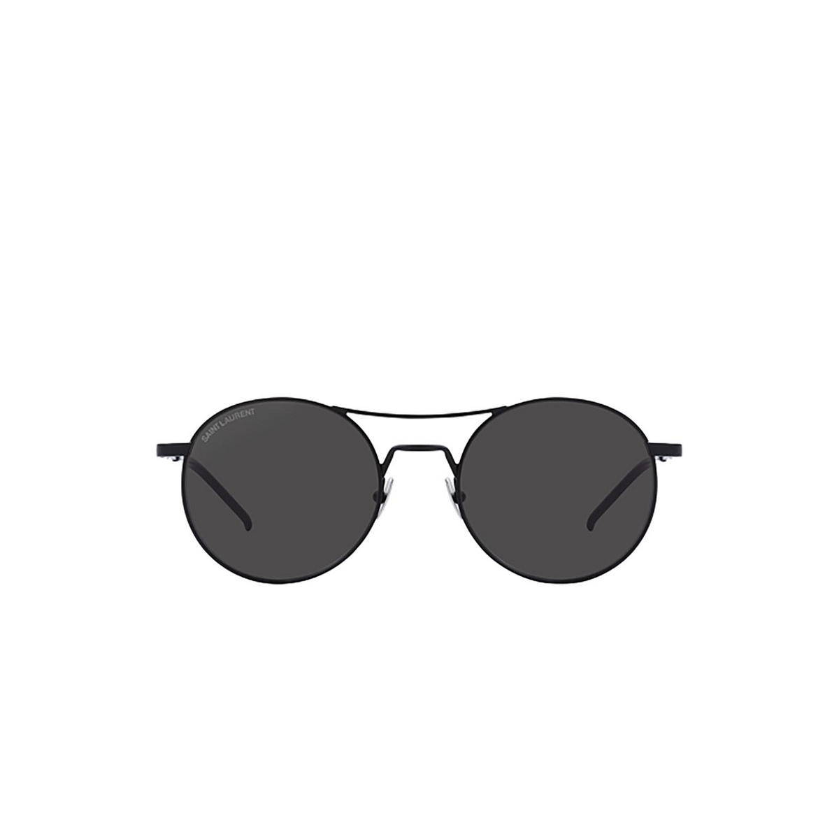 Saint Laurent® Round Sunglasses: SL 421 color Black 001 - front view.