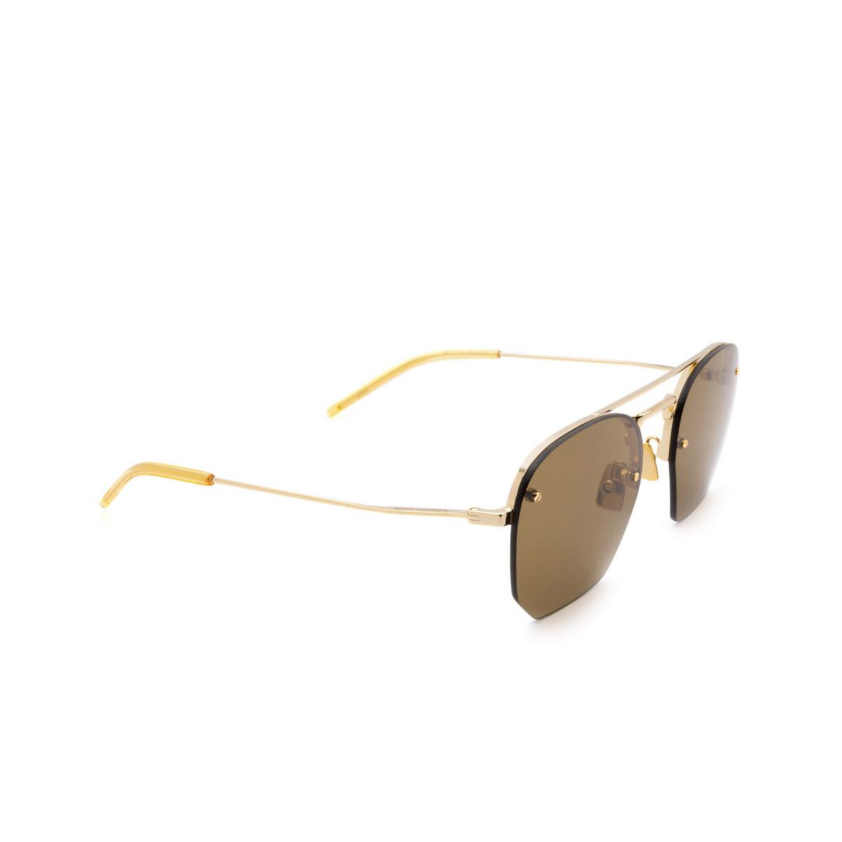 Saint Laurent® Irregular Sunglasses: SL 422 color Gold 001 - 2/3.