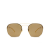 Saint Laurent® Irregular Sunglasses: SL 422 color Gold 001 - product thumbnail 1/3.