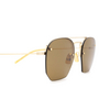 Saint Laurent® Irregular Sunglasses: SL 422 color Gold 001 - product thumbnail 3/3.