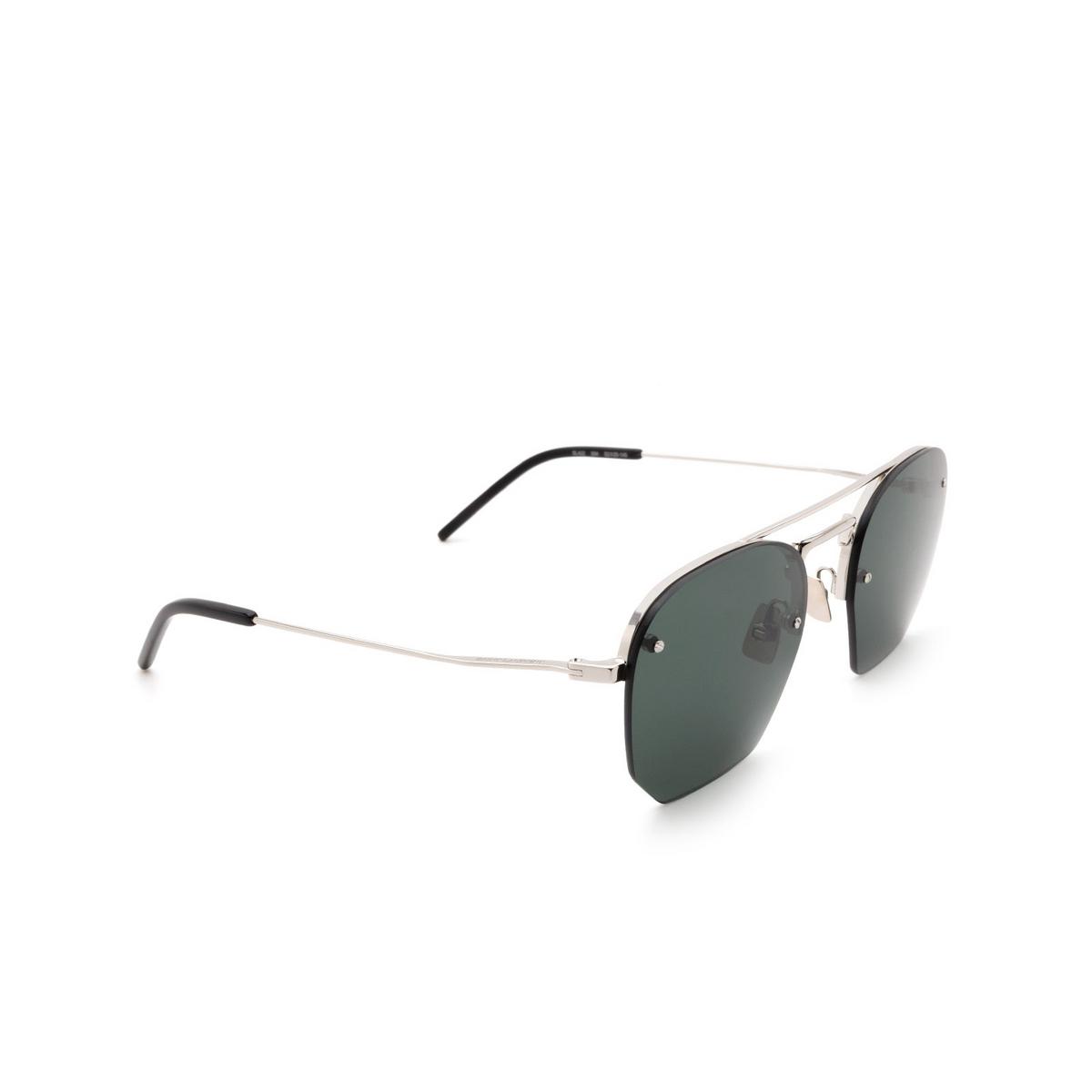 Saint Laurent® Irregular Sunglasses: SL 422 color Silver 004.