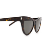 Saint Laurent® Cat-eye Sunglasses: SL 425 color Havana 002 - product thumbnail 3/3.
