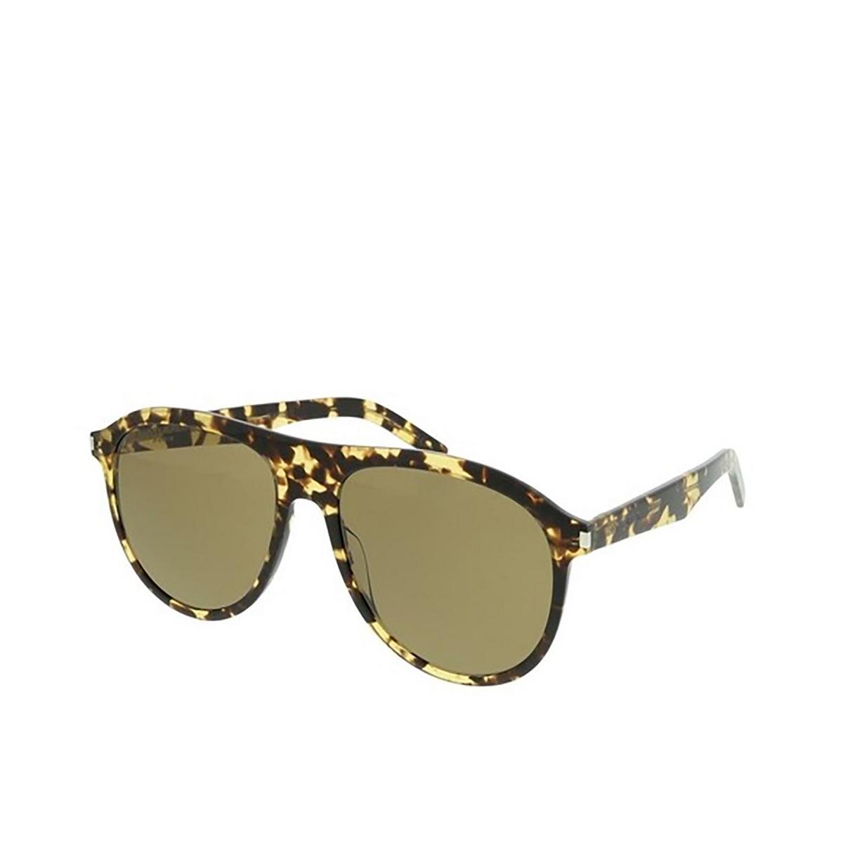 Saint Laurent® Aviator Sunglasses: SL 432 SLIM color Yellow Havana 004 - three-quarters view.