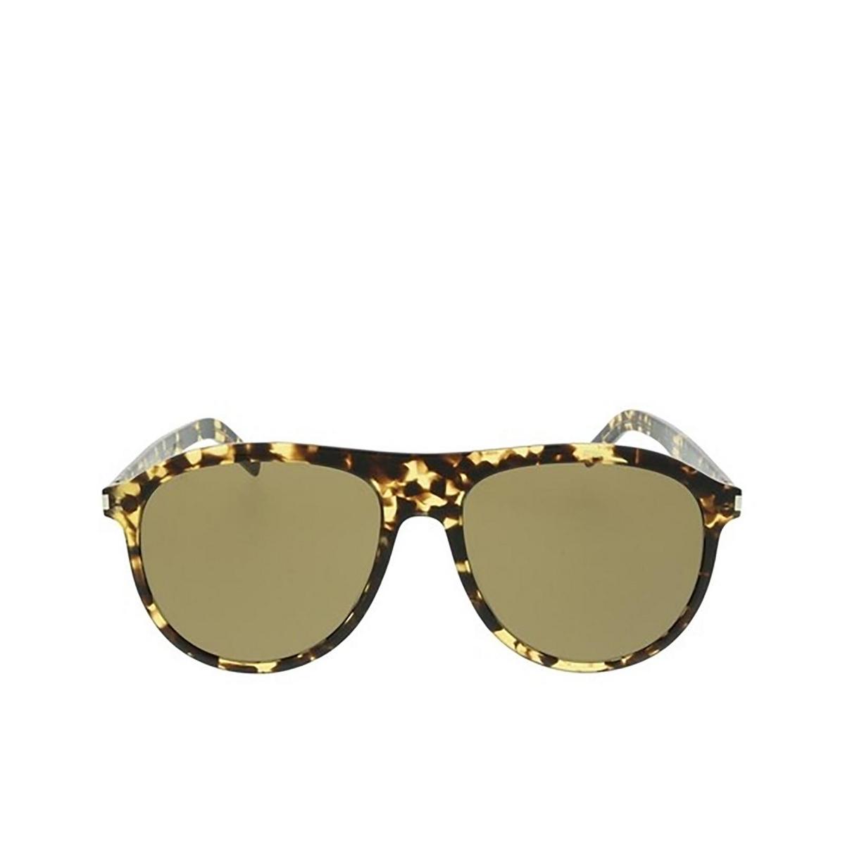 Saint Laurent® Aviator Sunglasses: SL 432 SLIM color Yellow Havana 004 - front view.