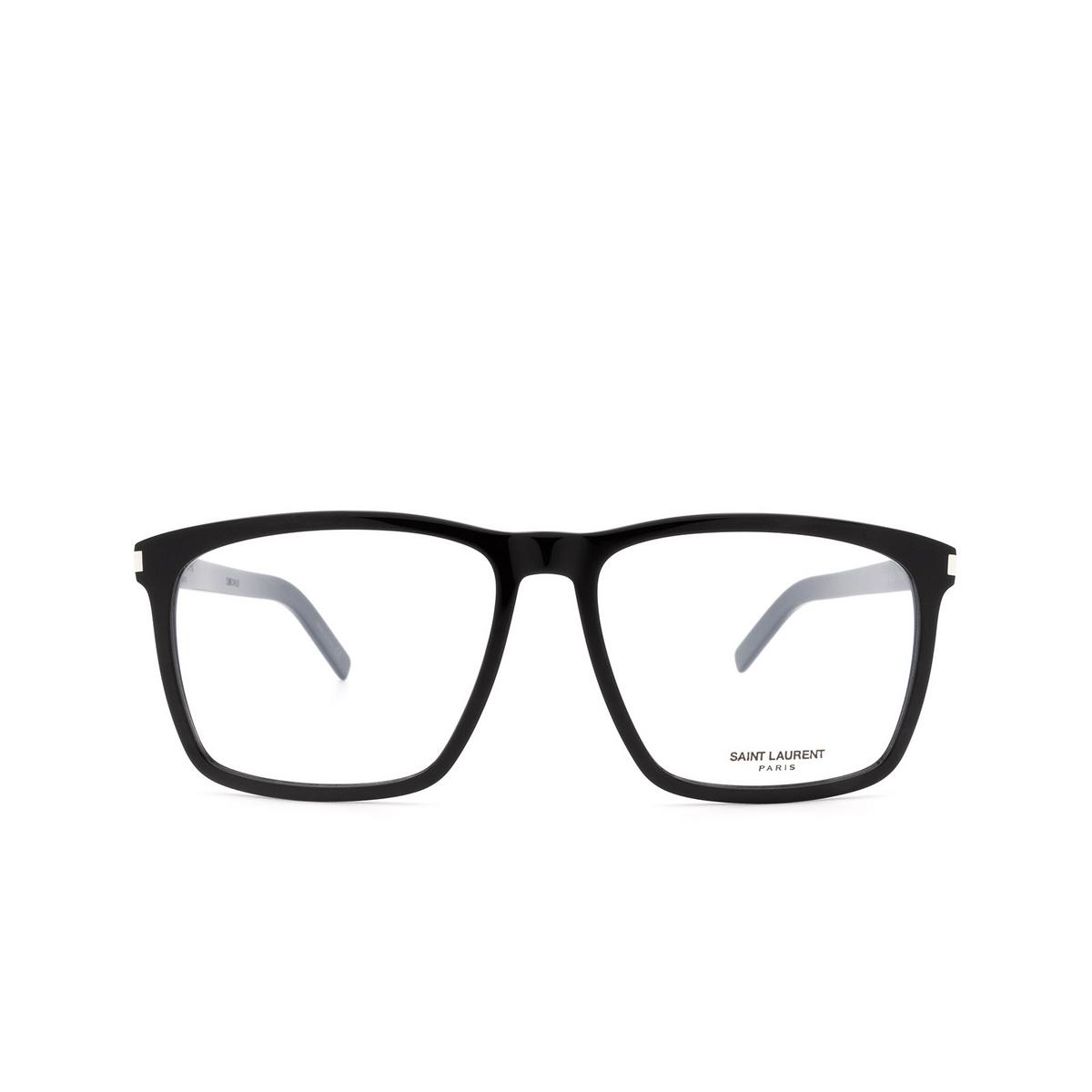 Saint Laurent® Square Eyeglasses: SL 435 SLIM color Black 001.