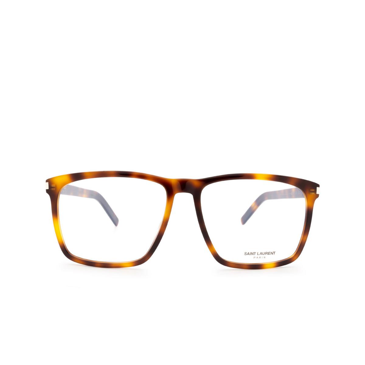 Saint Laurent® Square Eyeglasses: SL 435 SLIM color Havana 002.
