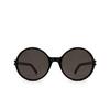 Saint Laurent® Round Sunglasses: SL 450 color Black 001 - product thumbnail 1/3.