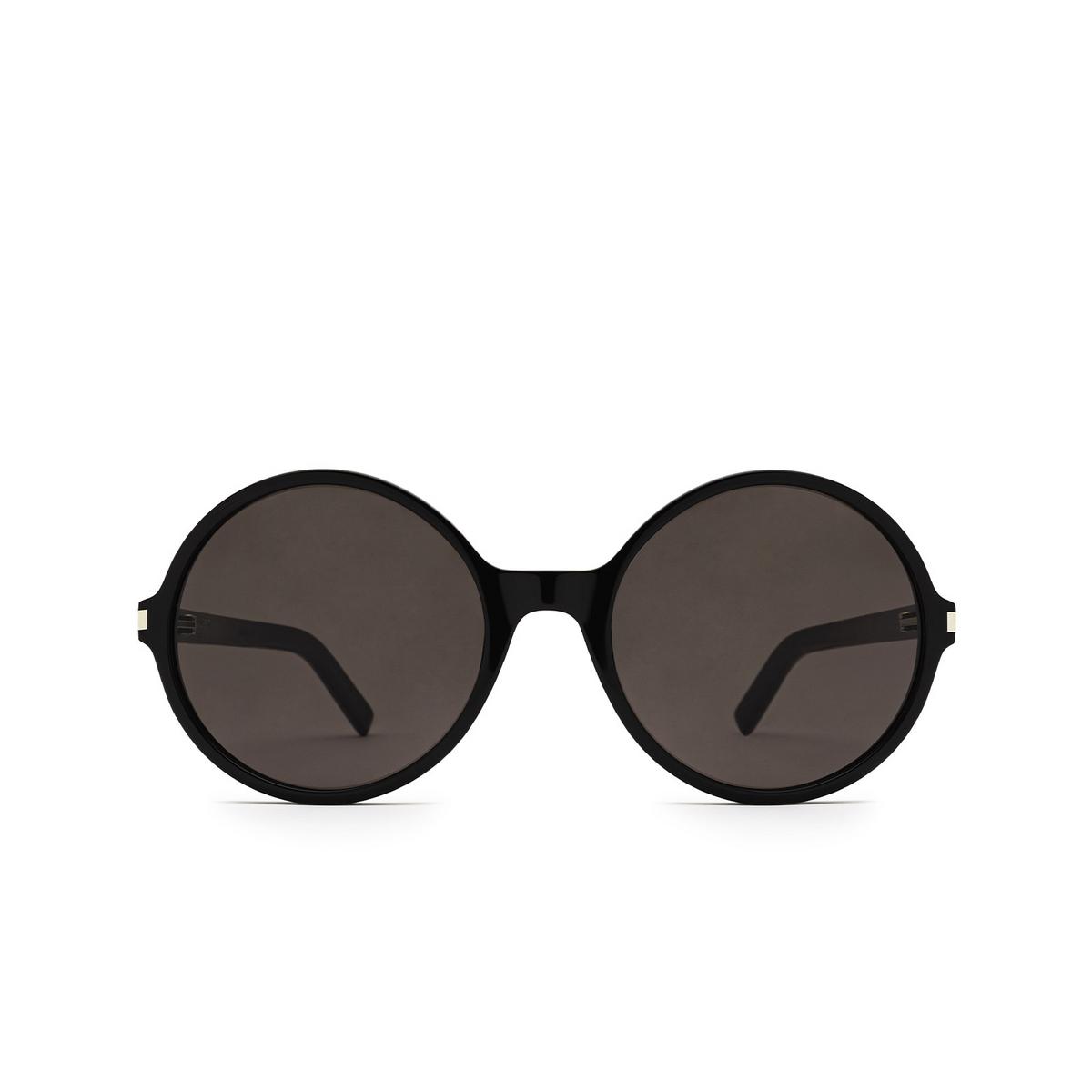 Saint Laurent® Round Sunglasses: SL 450 color Black 001 - front view.