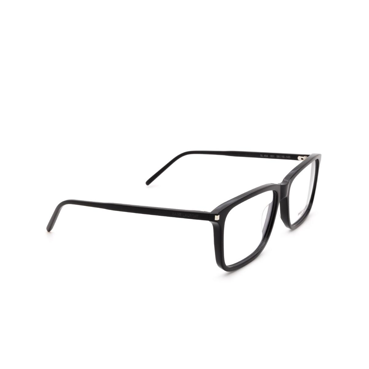 Saint Laurent® Rectangle Eyeglasses: SL 454 color Black 001.
