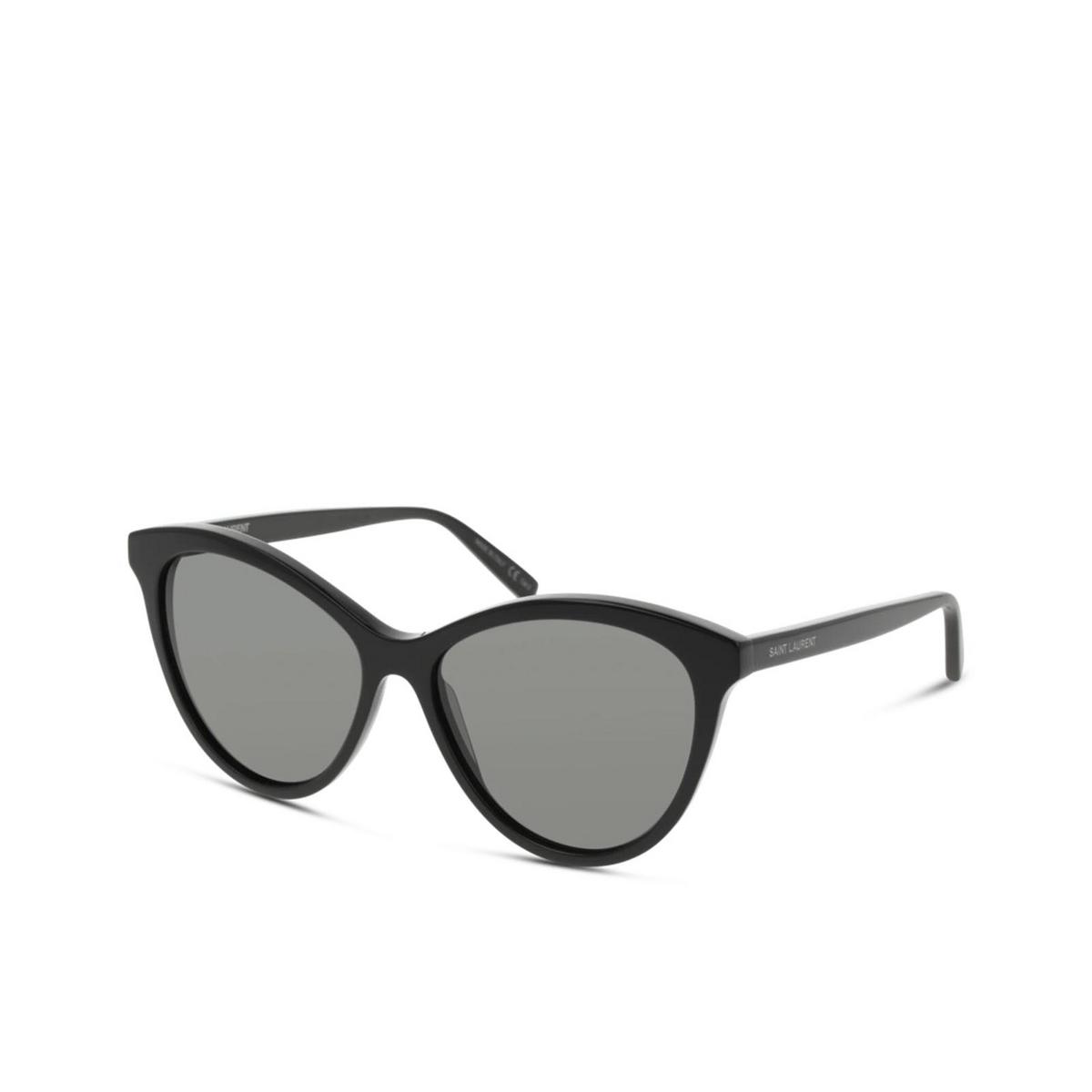 Saint Laurent® Cat-eye Sunglasses: SL 456 color Black 001 - three-quarters view.