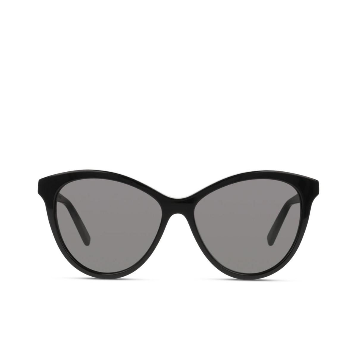 Saint Laurent® Cat-eye Sunglasses: SL 456 color Black 001 - front view.