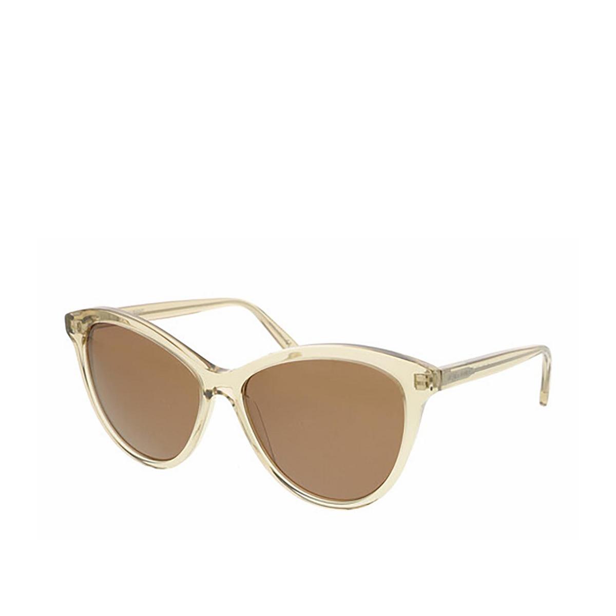 Saint Laurent® Cat-eye Sunglasses: SL 456 color Transparent Yellow 004 - three-quarters view.