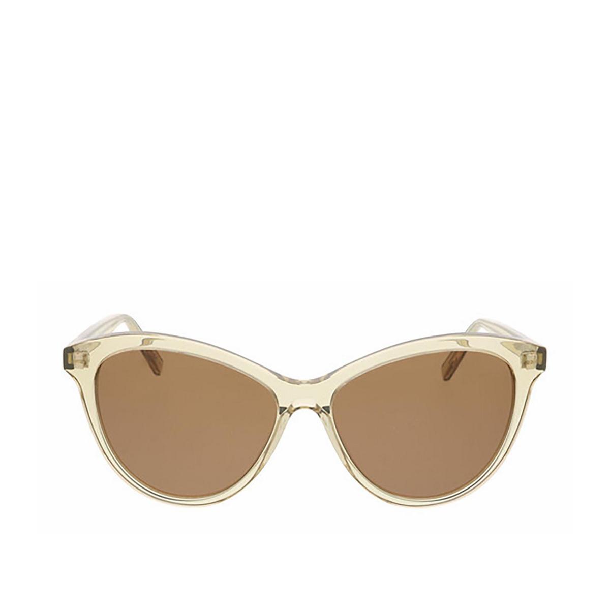 Saint Laurent® Cat-eye Sunglasses: SL 456 color Transparent Yellow 004 - front view.