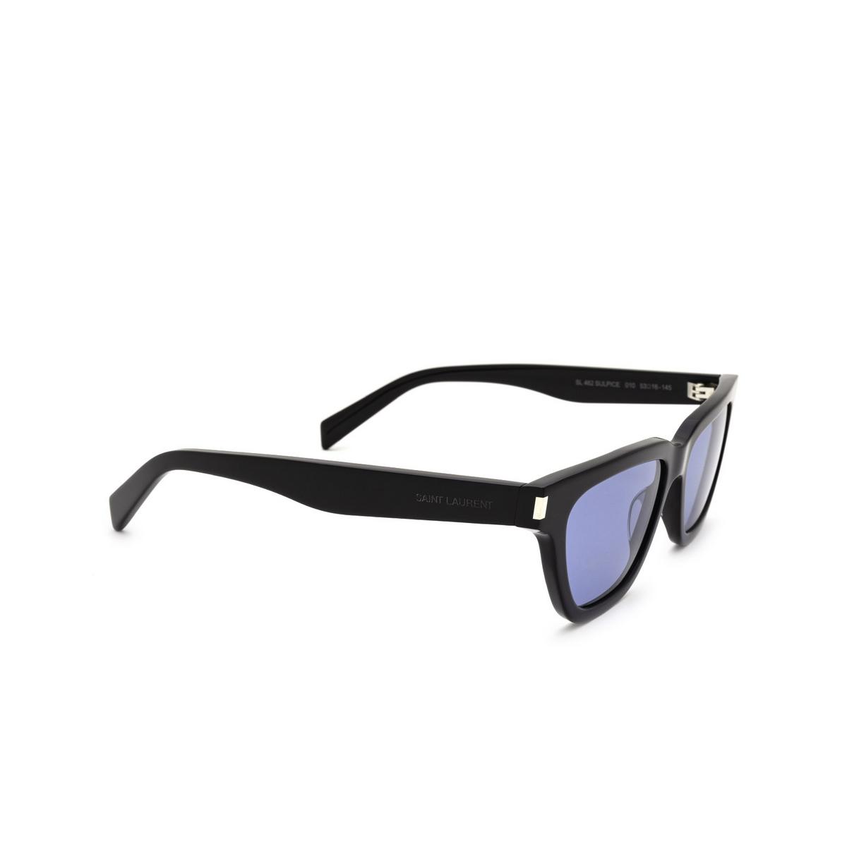 Saint Laurent® Cat-eye Sunglasses: Sulpice SL 462 color Black 010 - three-quarters view.